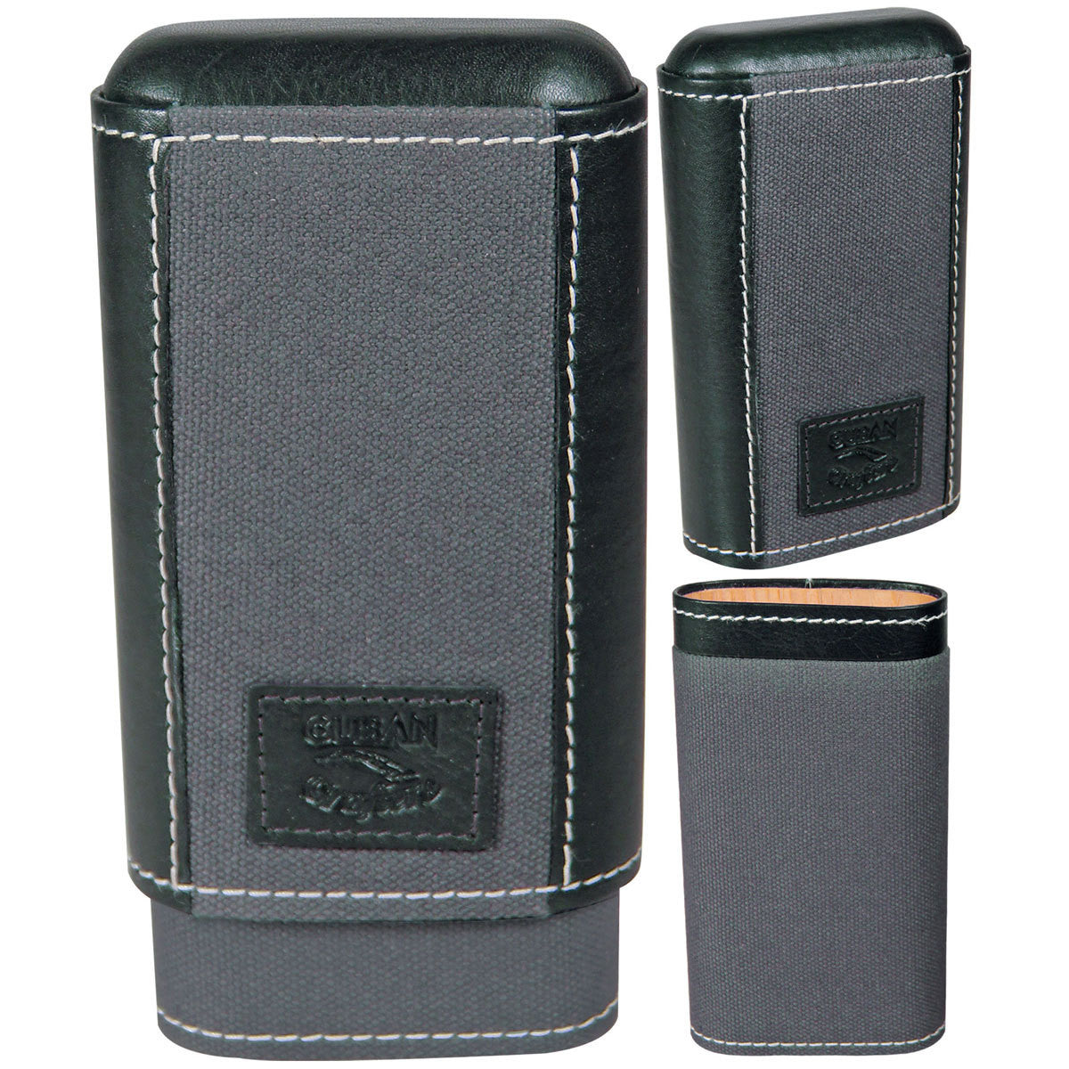 Isla Black Pocket Humidor Cigar Hard Case - Cigar boulevard