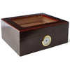 """LE ISLE"" Glasstop Mahogany Humidor for 40 cigars"