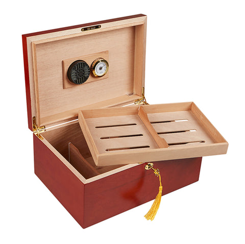 "Image of ""LE CITÉ"" Rosewood Desktop Humidor for 100 Cigars"