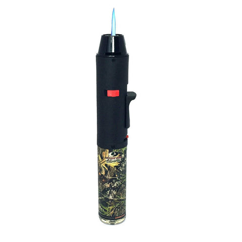 "Image of Eagle Torch TURBO SINGLE JET 7"" Pen Torch Refillable w/Kickstand - Mossy Oak"