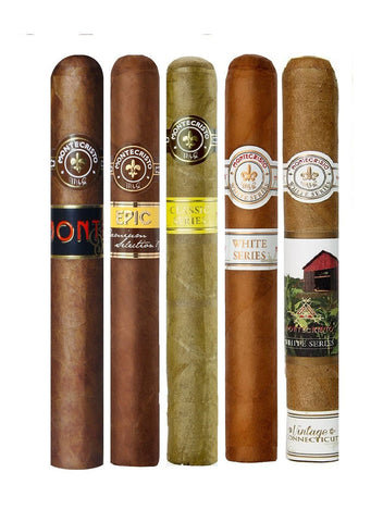 Montecristo Toro Assortment cigars Box of 5 - Cigar boulevard