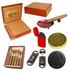 (6 Cuban Crafters Cigars, Humidor 25 Cigars,  Ashtray and Torch Lighter) - Cigar boulevard