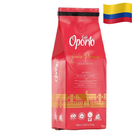 COLOMBIAN OPORTO Roasted Coffee Pack of 8 Oz