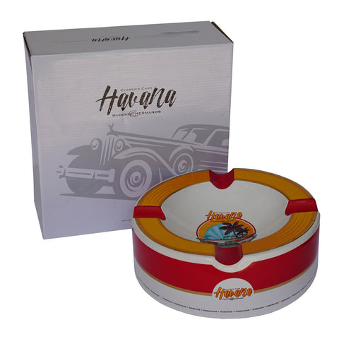 NEW Ashtray OLD HAVANNA Porcelain with Four Wide Grooves