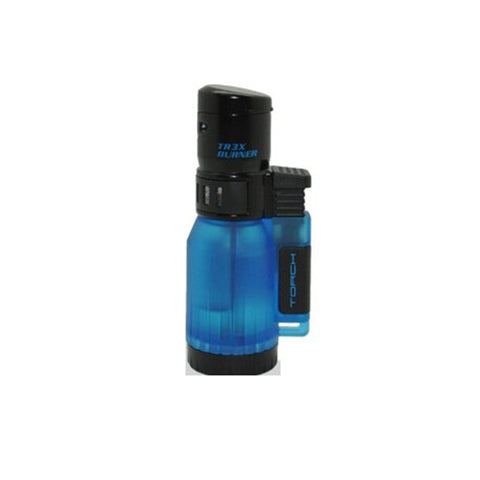 Eagle Torch TRIPLE FLAME Lighter Semi Transparent Tank
