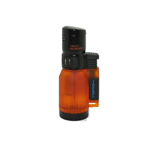 Image of Eagle Torch TRIPLE FLAME Lighter Semi Transparent Tank
