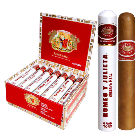 Image of ROMEO Y JULIETA RESERVA REAL Packs, Boxes and Tubes Cigars - Cigar boulevard