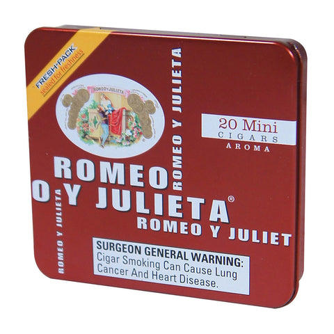 ROMEO Y JULIETA Small Cigars and Tins - Cigar boulevard