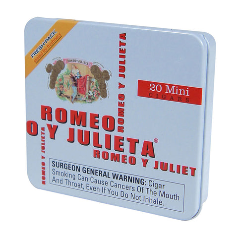 Image of ROMEO Y JULIETA Small Cigars and Tins - Cigar boulevard