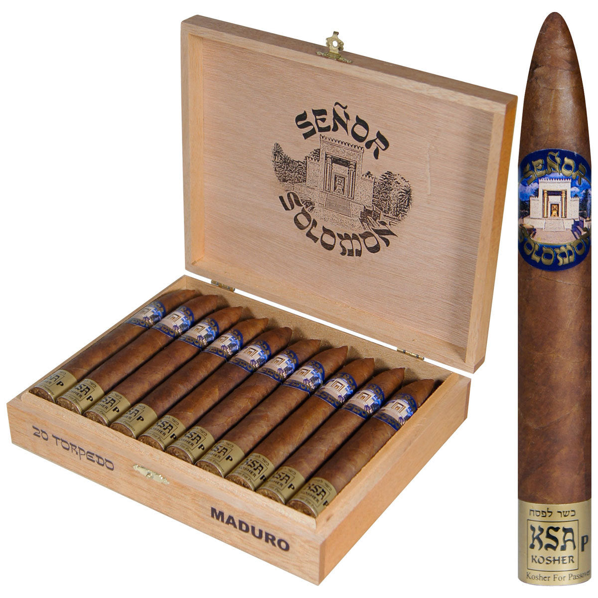 Kosher Cigars Senor Solomon Maduro Box of 20 - Cigar boulevard
