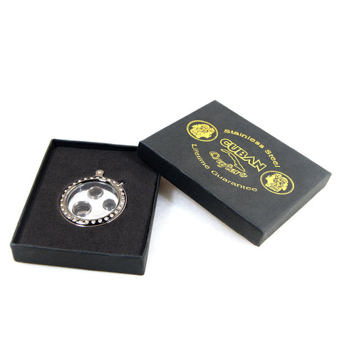 Image of 3 Size Round Cigar Punch in Silver With Diamond Frame - Cigar boulevard