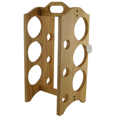 Wood Wine Rack Holds 6 Wine Bottles