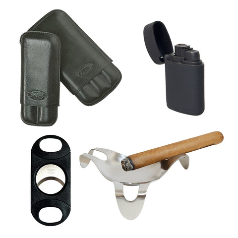 Image of (Leather Case, Cutter, Spider Ashtray, Torch) - Cigar boulevard