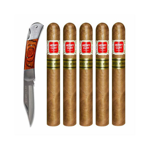 Image of Henry Clay WAR HAWK KNIFE GIFT SET Box of 6 Cigars
