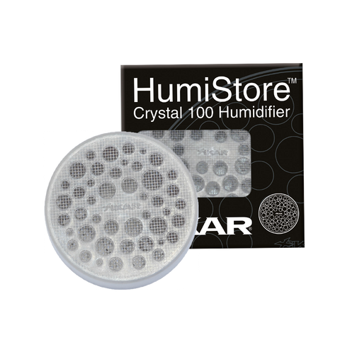 Image of CBC Acrylic Cigar Jar Humidor Humidifier plus XIKAR Humi Store and Puro Temp XIKAR