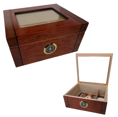 Image of Cuban Crafters Humidors Deluxe Mio Glass Top 40 cigars