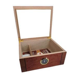 Cuban Crafters Humidors Deluxe Mio Glass Top 40 cigars