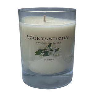 Scented Soy Candles JASMINE (11 oz) eliminates smoke, household and pet odors.