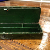 19th Century Red Rooster Pencil Box
