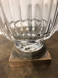 Antique Austrian Crystal Covered Urn