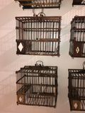 Antique Bird Boxes From Spain - a Set of 6