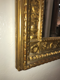 Antique Carved and Giltwood Mirror