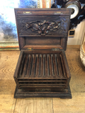 Antique Carved Black Forest Wood Cigar Box