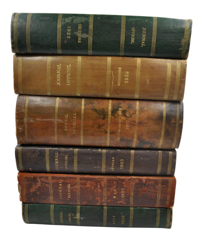 Antique French Leather-Bound Books