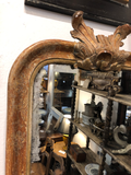 Antique French Mirror With Leaf Detail