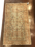 Antique Wool Turkish Oushak Rug