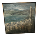 Artist Signed 1960's View of San Francisco