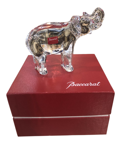 Baccarat Crystal Elephant in Original Box