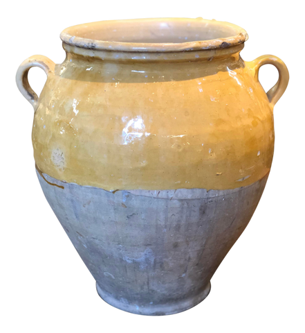 Circa 1900 Yellow Confit Pot