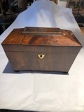 Dome Top Two Lidded Tea Caddy