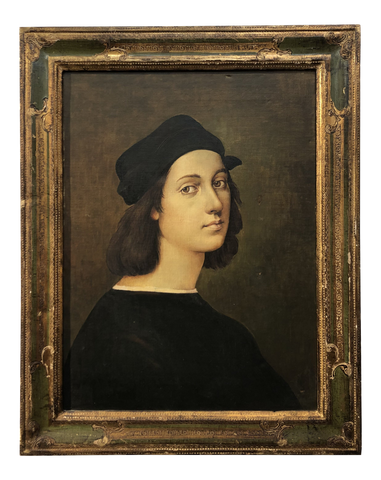 Early 20th Century Italian Painting a Copy by Raphael in Florentine Frame