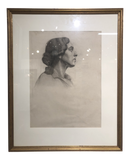Framed Charcoal Portrait by Edith Ainsworth C.1920