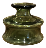 French Green Glass Inkwell