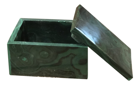 Green Genuine Malachite Box