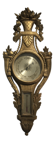 Late 18th Century Gilt and Carved Wood Barometer