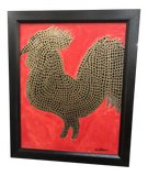 Original Art by Atlanta Artist: Good Luck Rooster