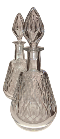 Pair of Baccarat Cut Crystal Decanters