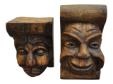 Pair of Carved Wood Corbels