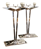 Pair of French Chrome Lamps