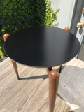 Pair of Mid Century Round Stacking Drinks Tables