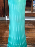 Rarely Located Colorful Blue & Green Hobnail Vase C.1950