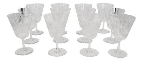 Set of Twelve Baccarat Wine/Water Glasses