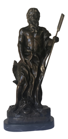 Signed Grand Tour Bronze of Neptune