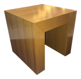 Solid Wooden Stand/Table in Cube Form