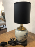 Vintage Canton Lamp With Black Shade