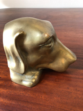 Vintage Heavy Brass Dog Bookends, a Pair